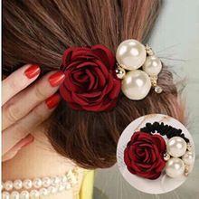 Ellegant flores de la cinta perlas simuladas decoración aleación vendas…