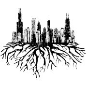 Grunge Chicago Skyline Silhouette PNG