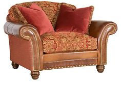 Shop the Katherine Sofa by King Hickory at Furnitureland South, the World's Largest Furniture Store and North Carolina's Premiere Furniture Showroom. Rustic Living Room Furniture, Large Furniture, Home Living Room, Industrial & Rustic Interior, Rustic Interiors, Leather Fabric, Leather Sofa, Rustic Fall Decor, Rustic Kitchen Design