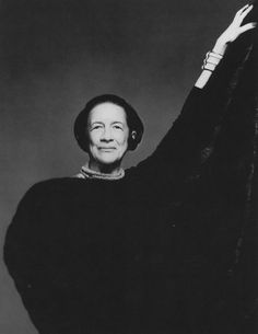 Diana Vreeland. 1903 - 1989. Was editor-in-chief of Vogue and Harper's Bazaar and she became consultant to the Costume Institute of the Metropolitan Museum of Art ~*