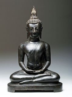 16th C. Thai Bronze / Gilt Buddha - Chiang Sean / Lanna