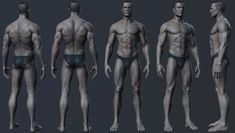 ArtStation - Male anatomy practic., Nikolay Chugunov