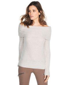 White House | Black Market Convertible Cowl Sweater #whbm