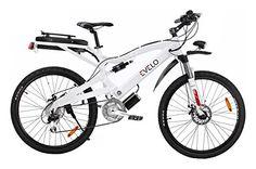 EVELO Aries Electric Bike with NuVinci N360 Drivetrain & 250W Mid-Drive Motor, White - http://www.bicyclestoredirect.com/evelo-aries-electric-bike-with-nuvinci-n360-drivetrain-250w-mid-drive-motor-white/