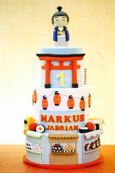 Markus' Japanese Street Fair Themed Party – Cake