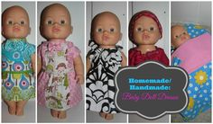 #Homemade/ #Handmade: #BabyDollDresses  If you know how to sew and know of a little one in the family that loves baby doll, handmade baby doll clothing would make a perfect gift. :)