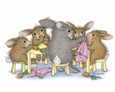 """""""Rabbits of the Round Table"""" from House-Mouse Designs®"""