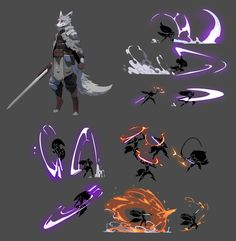 Fantasy Character Design, Character Design Inspiration, Character Art, Fighting Drawing, Magic Design, Anime Poses Reference, Weapon Concept Art, Digital Art Tutorial, Magic Art