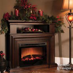 Montgomery 47 Corner Tv Console W 25 Electric Fireplace