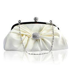 Gorgeous Silk With Crystal Evening Handbags/ Clutches More Colors Available – CAD $31.22