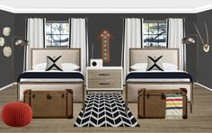 Project Nursery - Havenly Boys' Shared Room Design