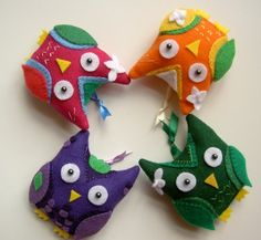owls in quilt patterns 2 by Protean Crafts, via Flickr