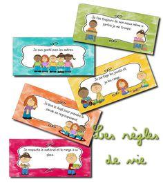 La maternelle de Laurène: règles de vie illustrées