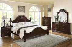 Acme Furniture - Gwyneth 5 Piece Bedroom California King Bed Set in Cherry - 21854CK-5SET