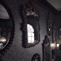 mirror, dark, and aesthetic image