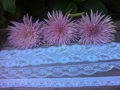 Collection of Three White Laces. FIFTEEN Yards of Wholesale White Lace for DIY Wedding Supplies.