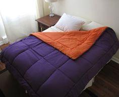 Purple/Orange Reversible Comforter - Twin XL by DORMCO. $36.94