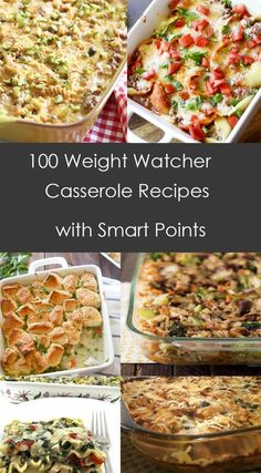 Weight Watchers Casserole recipes - 100 Weight Watcher Casserole Recipes with Smart Points Weight Watcher Dinners, Plats Weight Watchers, Weight Watchers Diet, Weight Watchers Smart Points Recipies, Weight Watchers Frozen Meals, Weight Watchers Lunches, Weight Watcher Smoothies, Skinny Recipes, Ww Recipes