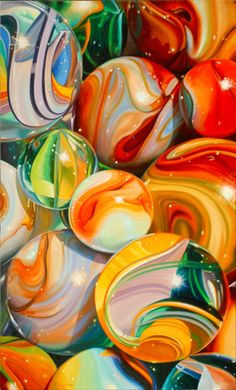 "Marbles #6 | Pat Bailey | 40"" x 24 "" 