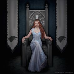 Another fictional Stark image comes from Niki Ribble (known as Art by Nik). Wouldn't Sansa, Queen of the North, be awesome?
