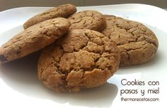 Galletas cookies con pasas y miel