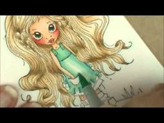 Tutorial of how to color the July 2013 Copic Coloring Monthly Card Kit from Heather's Hobbie Haven using Copic Markers. Featuring Saturated Canary stamp: Sum...