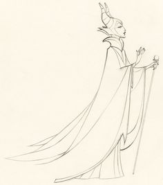 Maleficent Production drawing