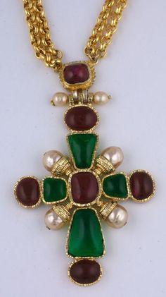 Chanel Byzantine Cross Necklace