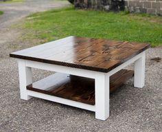 Coffee Table Design, Wood Table Design, Coffee Table With Shelf, Solid Wood Coffee Table, Table Designs, Rustic Kitchen Tables, Rustic Coffee Tables, Diy Coffee Table, Diy Table