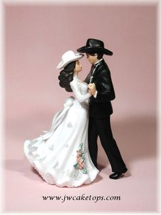 First Dance Western Wedding Cake Topper