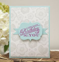 Very Happy Birthday Card by Ashley Cannon Newell for Papertrey Ink (May 2013)
