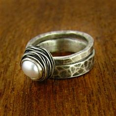 nested pearl ring set.