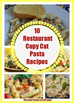 10 restaurant copycat pasta recipes  ~  Chili's, Olive Garden, Applebee's, and more