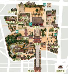 Senso-ji Temple Official Guide to Senso-ji's Halls / 金龍山  浅草寺 公式サイト 境内案内