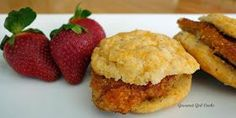 Gourmet Girl Cooks: Chicken Biscuit Sandwiches -- Low Carb & Wheat Free