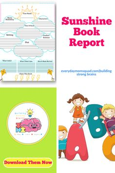 This is a fun free book report for kids to make reading fun and help with their comprehension. Practice learning the components of a story. Educational Activities For Kids, Sensory Activities, Infant Activities, Fun Learning, Teaching Kids, Sunshine Books, Kids Behavior, Play Ideas, Raising Kids