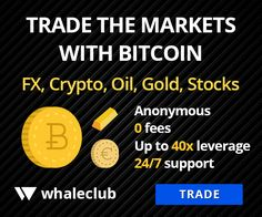 Whaleclub offers anonymous, Zero-Fee Trading powered by Bitcoin. Long or Short Stocks, Forex, Commodities up to leverage.