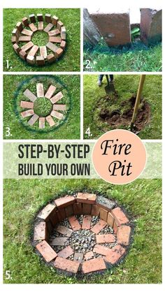 Diy Fire Pit, Fire Pit Backyard, Backyard Patio, Backyard Landscaping, Landscaping Ideas, Backyard Seating, Pavers Ideas, Cheap Fire Pit, Flagstone Patio
