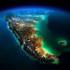Chile e parte da Argentina vistos do Espaço