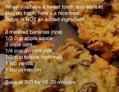 Oatmeal Cookies; sugar-free & flour-free!
