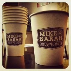 custom wedding paper coffee cups