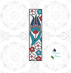 Blue Tulips, Cross Stitch Pillow, Turkish Design, Cover Pages, Bookmarks, Cross Stitch Patterns, Diy Crafts, Quilts, Sewing