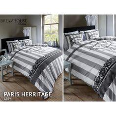 Luxusné posteľné obliečky sivo bielej farby s kvetovaným vzorom