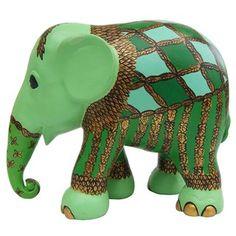 Elephant Parade - Jungle Circus - [Note to self: sent to A. Elephant Parade, Elephant Love, Elephant Art, Elephant Illustration, Fabric Animals, Pebble Painting, Jade Green, String Art, Dinosaur Stuffed Animal