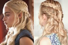 'Game of Thrones'-Inspired Hairstyles | Daenerys' Stacked Side-Braids