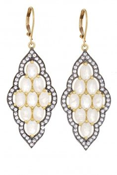 Mosaic Moonstone Earrings   | Calypso St. Barth