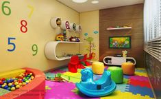 Brinquedoteca Indoor Playroom, Kindergarten Interior, Classroom Pictures, Toddler Classroom, Home Daycare, Church Nursery, Kids Room, Projects To Try, New Homes
