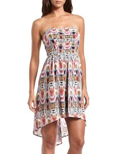 Too Cute! Strappy-Back Hi-Low Tube Dress: Charlotte Russe