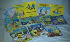 This is a lot of 12 pre-owned children's book. Books has some wear and tear on cover. There are 1 Smurfs book, 4 Curious George books, 6 Spongebob Square Pants, and 1 Just Go to Bed by Mercer Mayer book. | eBay!
