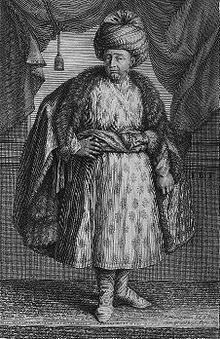 Jean-Baptiste Tavernier (1605 – 1689) was a 17th-century French gem merchant and traveler.Tavernier, a private individual and merchant traveling at his own expense, covered by his own account, 60,000 leagues, 120,000 miles making six voyages to Persia and India between the years 1630-1668.  Tavernier was born in Paris of a French Huguenot family that had emigrated to Antwerp to escape persecution